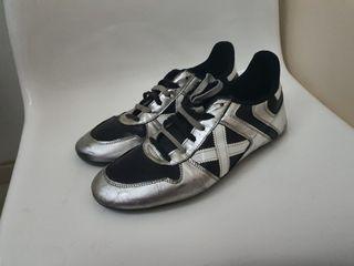 zapatillas Munich plateadas