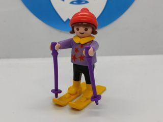 Playmobil niña Ski