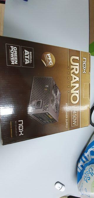 fuente de alimentación nox urango 450w