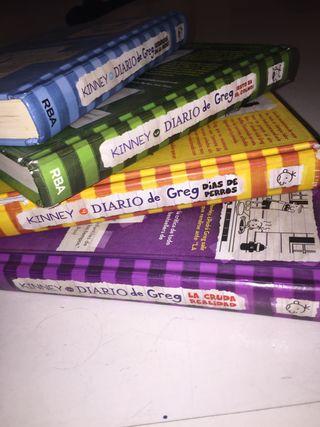 Lote de libros de diario de greg 3,4,5 y 6