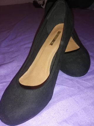 Zapatos tacón negros 38