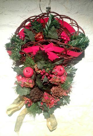corona decoracion de navidad