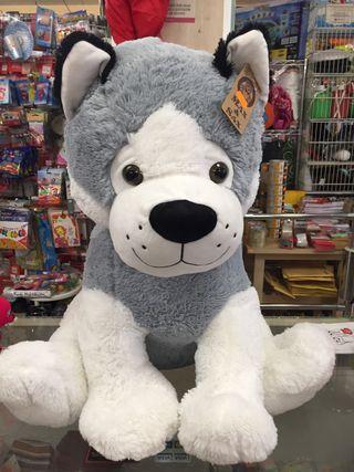 peluche Husky gigante 64cm