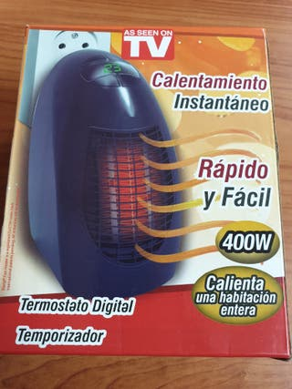 Calefactor mini con temporizador 400W