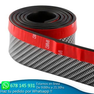 lip protector fibra carbono para defensa coche