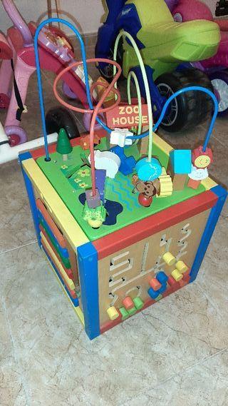 caja madera juegos