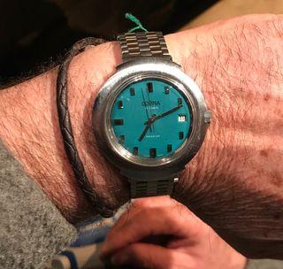 Reloj de cuerda vintage, caballero.