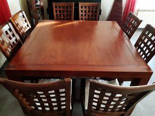 Mesa comedor Teka + 8 sillas