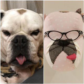cabeza de perro de tela de DeSandra