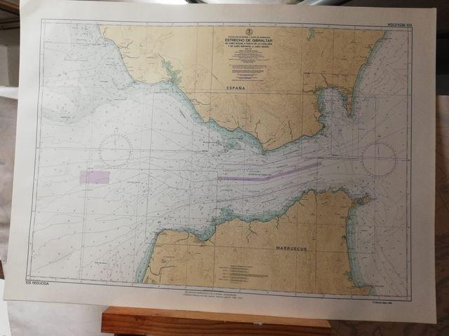 Mapa para examen patrón (mapa marinero)