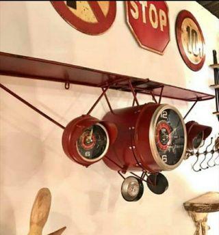 Relojes Avión Estantería metálica