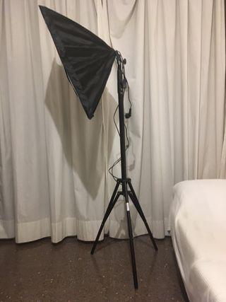 Set de 2 focos y fondos fotografía