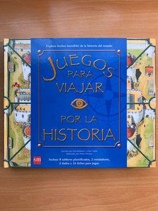 Libro de juegos para viajar por la Historia