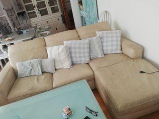 conjunto 2 sofás piel