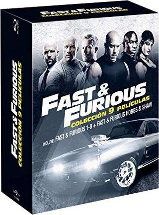 Set pack Blu-Ray,FAST & FURIOUS 1-8 + HOBBS & SHAW