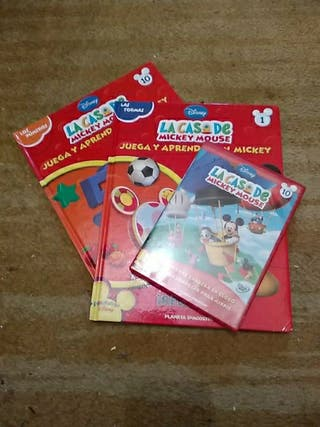 lote libros Mickey y CD con dos capitulos