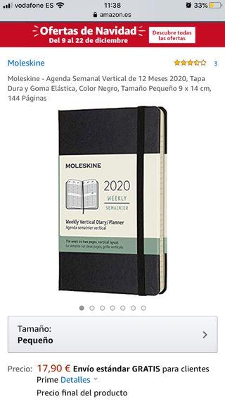 Agenda Moleskine 2020
