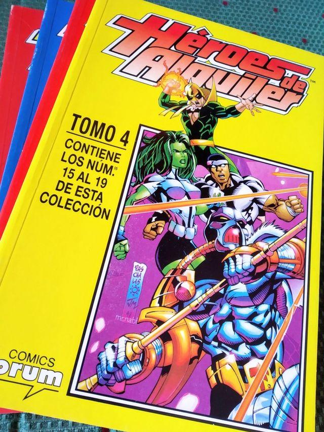 Pack 4 retapados Héroes de alquiler (19 cómics)