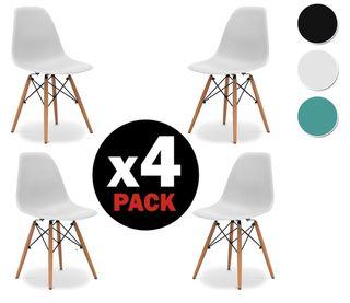 4 Sillas - Color Blanco