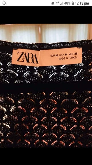 Zara black vest top