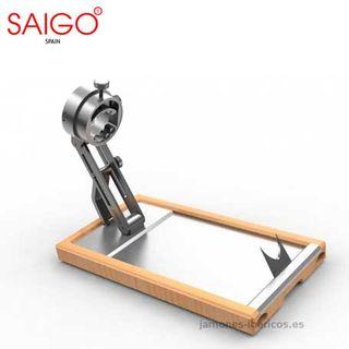 Jamonero giratorio y plegable de bambu SAIGO