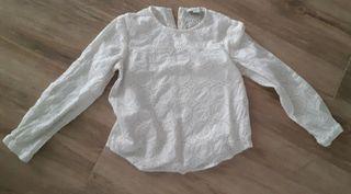 camiseta blanca t. 7-8