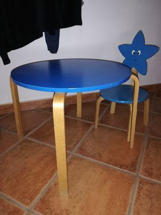 juego de mesa y silla infantil