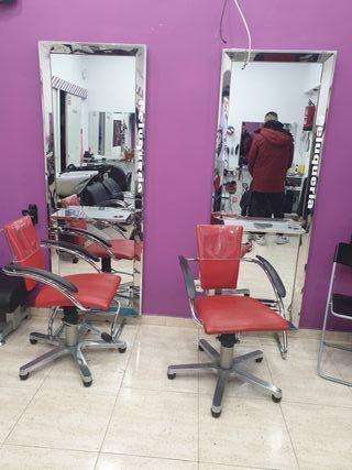 2 silla 2 tocadores de peluquería