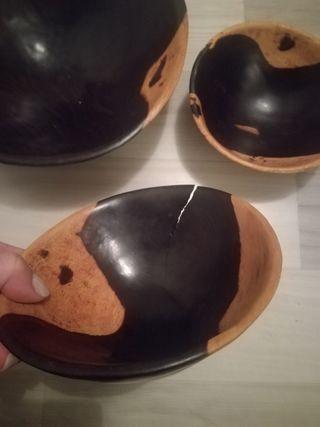 Bols en bois véritable