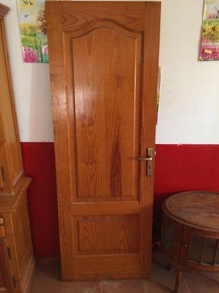 Lote 4 puertas madera maciza