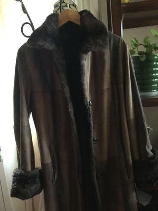 Abrigo,chaquetón piel autentica reversible.Negocio