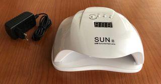 Lámpara de uñas LED-UV 54W de potencia + esmaltes