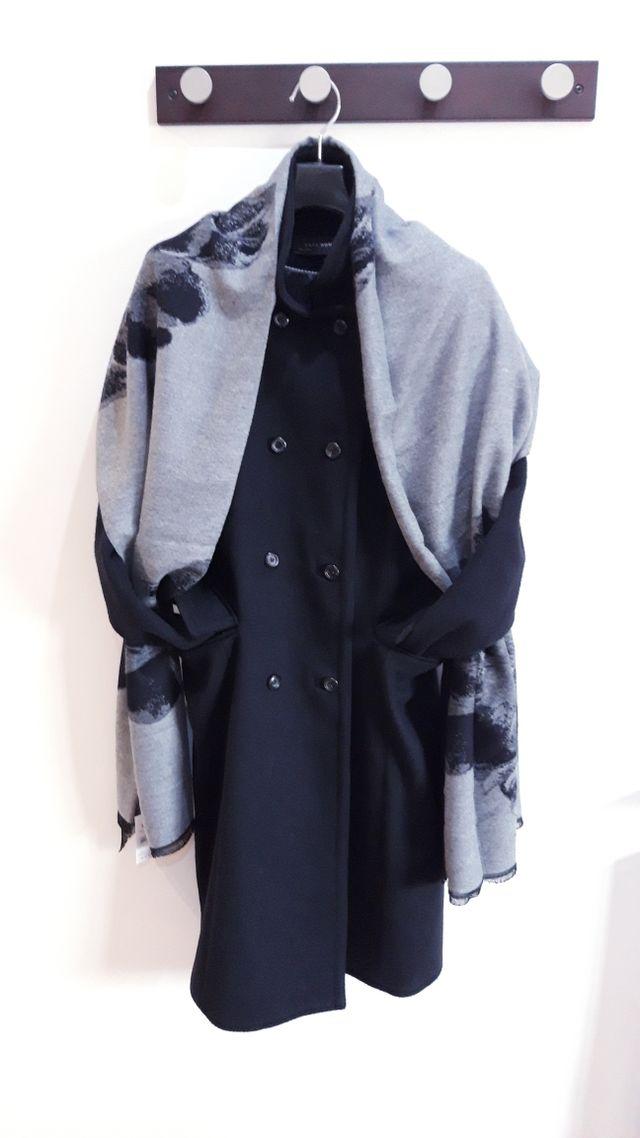 Bufanda lana mujer invierno suave. flor.