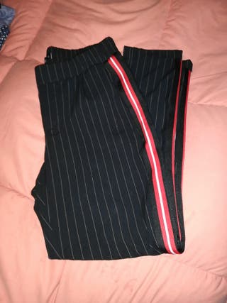 pantalón de rayas talla M