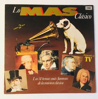 LO MAS CLÁSICO 2 Discos Vinilos 2 Lp