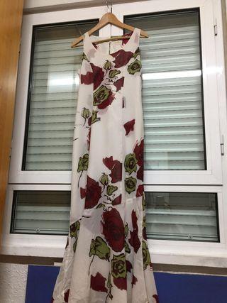 Vestido flores fiesta largo