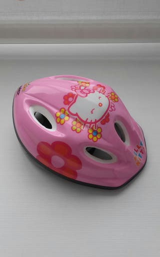 casco de niña de bicicleta de la HELLO KITY