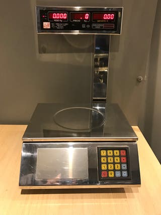 Bascula balanza electronica panaderia acero inox