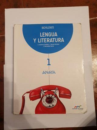 Libro lengua y literatura anaya 1° Bachillerato