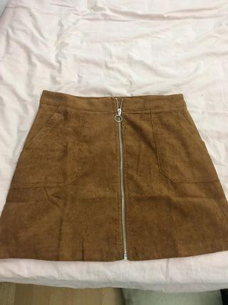 Falda mujer marrón.