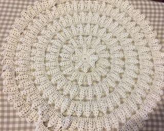 Mantel artesanal crochet