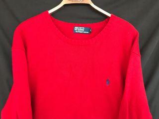 POLO RALPH LAUREN sueter algodón rojo XL