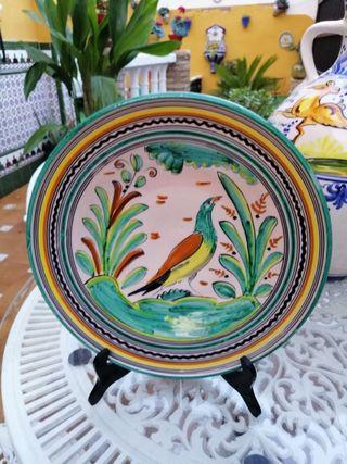 plato ceramica vidriada sanguino Toledo 91