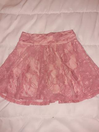 falda de encaje s,m