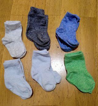 6 pares de calcetines para bebés