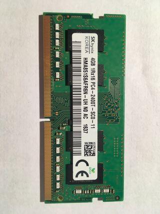 Módulo RAM 4 Gb DDR4 portátil 2400 Mhz CL 11