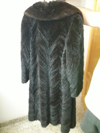 abrigo visón canadiense