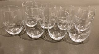 "8 verres gravés ""The MacAllan the single Malt"""