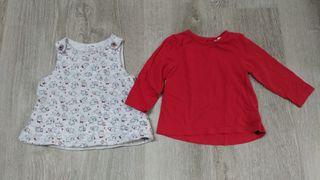 Conjunto Pichi y camiseta 6- 9 meses