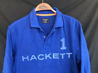 Polo manga larga azul HACKETT talla M